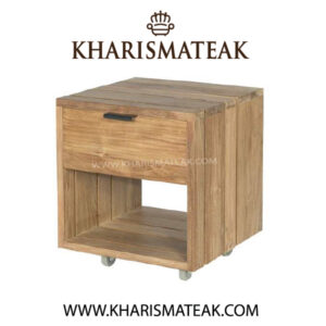 Rafless bedside table 1 drawer, kharismateak wordwidefurniture market
