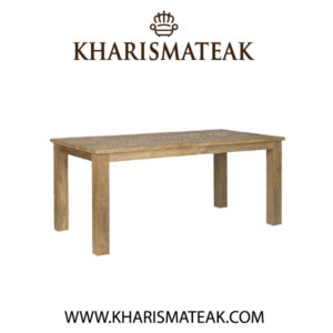 rafless dinning table, kharismateak worldwide furniture market