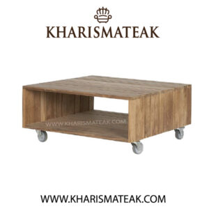 rafless roller coffee table, kharismateak worldwide furniture market